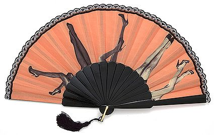 Love beating the heat with folding fans - especially with ones sporting a humorous or fun print!