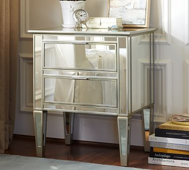 "bedside table--we have these and although they are pretty formal and ""fancy"" they add just the balance to our master that I was looking for. LOVE them."