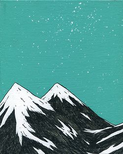 Mountains by night print