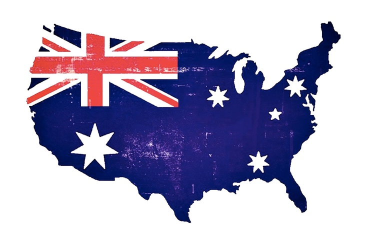 Australia USA Flag image for AUS expats & USA residents who love, celebrate and are proud of both continents that are meaningful to them  Freebie download from Prettie Parties xo