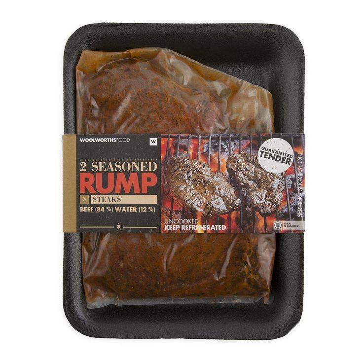 Seasoned Beef Rump Steak Avg 300g