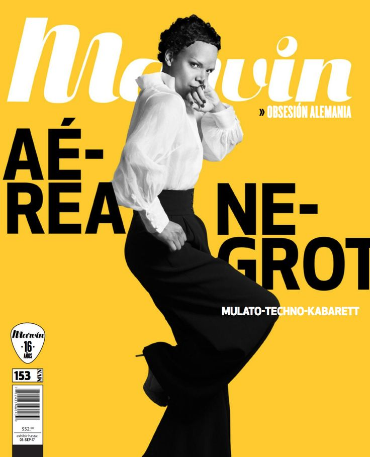Revista Marvin 153: Obsesión Alemania En Portada: Aérea Negrot  #AereaNegrot #MagazineCover #CoverJunkie #MinimalDesign #GermanyDesign #Germany #Minimal #RevistaMarvin #Marvin #ArtDirection #Magazine #EditorialDesign #Editorial #GraphicDesign