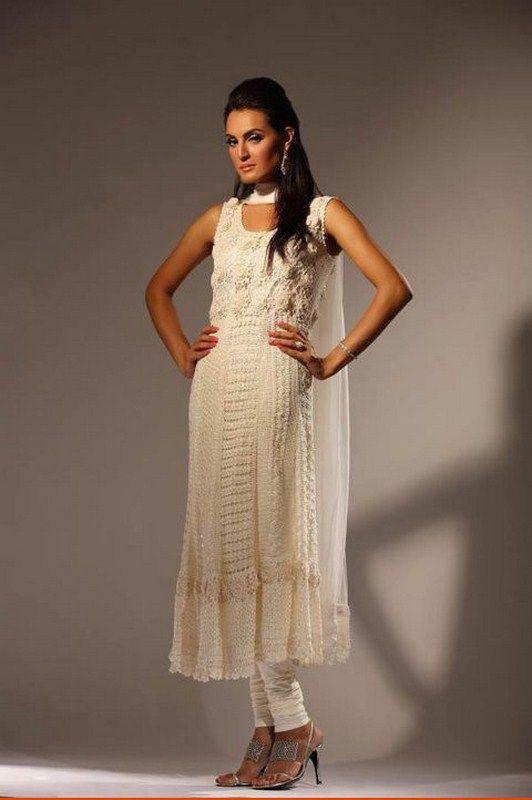 beautiful, white crochet kameez and churidaar pajamaCrochet Design, Summer Dresses, Crochet Summer, Design Dresses, Delphi Crochet, Collection 20122013, 20122013 11, Lace Dresses, Crochet Clothing