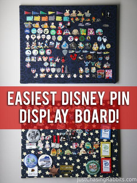 DIY The Easiest Disney Pin Display Board | Just Chasing Rabbits