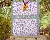 Der Hochzeitsbaum / Gästebuch ist nicht nur eins der schönsten Hochzeitsspiele und ein Klassiker der Hochzeitsgästebücher - er ist auch eins der individuellsten Geschenke zur Hochzeit. Jeden Gast hinterlässt seine Unterschrift auf dem Baum. - Bespannte Leinwanddruck - feinstes #weddingcolor #grau