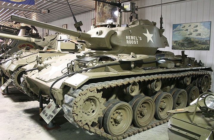 This M24 Chaffee tank seen at Ropkey Armor Museum