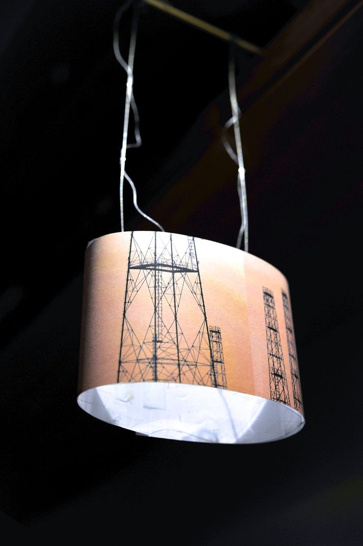 """Work in progress: My new lamp: """"Tralicci"""", elliptical cylinder. This my paper in-scale model."""