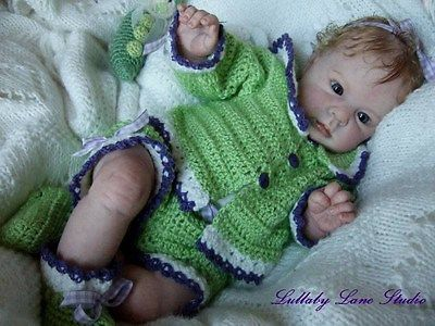 """Crystal reborn kit by Donna Rubert with full arms & 3/4 legs, makes a 21"""" infant"""