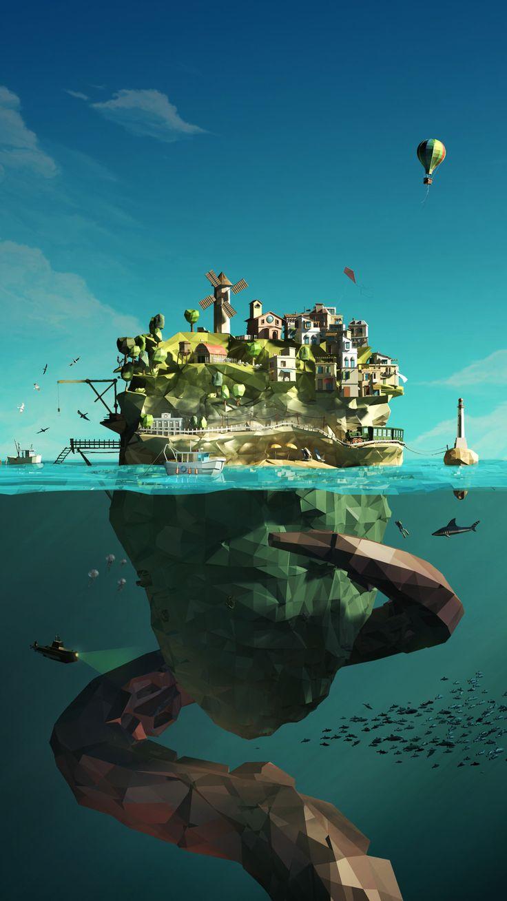 DEAILAND - THE ISLAND, Federico Abram on ArtStation at https://www.artstation.com/artwork/yAx8R