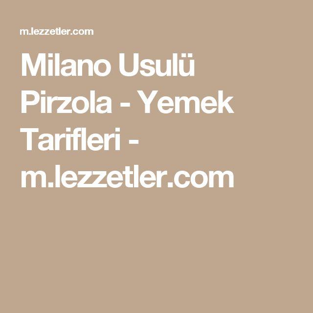 Milano Usulü Pirzola - Yemek Tarifleri - m.lezzetler.com