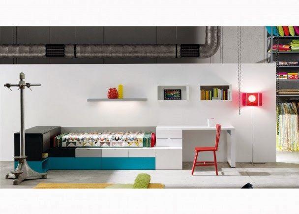 17 best images about dormitorios juveniles habitaciones for Cama individual con cajones