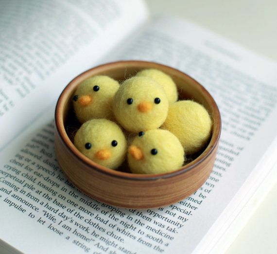 Needle Felted Little Baby Chicks