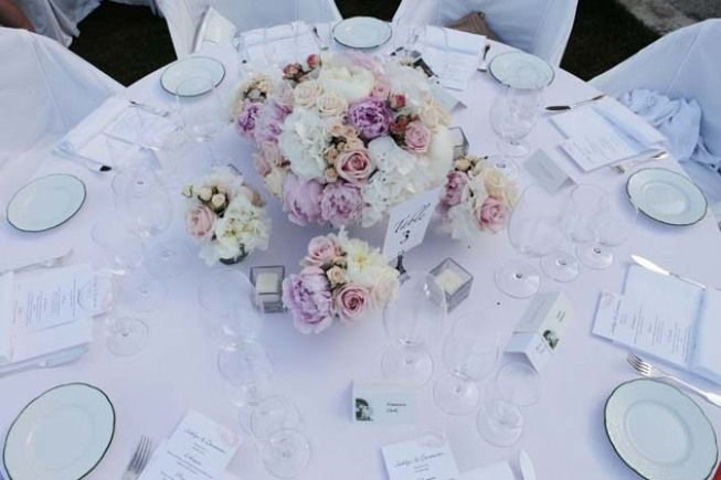 Table decoration for wedding banquet in Ravello http://www.weddingsontheamalficoast.com/ravello-wedding-jackie-constantin-sinagra.html