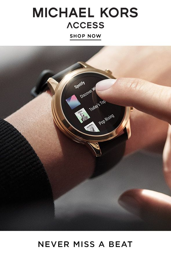 bc8222e46 Our newest smartwatch is runway ready: Introducing the Michael Kors Access Runway  smartwatch. Now with Google Pay, music controls, heart rate tracking, ...