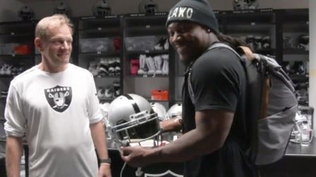 Marshawn Lynch's first moments as a Raiders player are priceless - NFL Videos