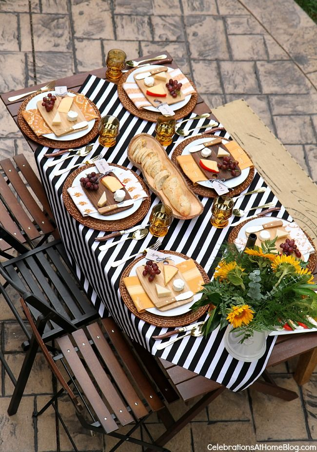 WELCOME FALL WITH A DINNER PARTY AL FRESCO — Celebrations at Home #fall #entertaining #tabletop