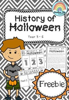 Free Download - History of Halloween Comprehension passage. Interactive notebook activity. ~ Rainbow Sky Creations ~