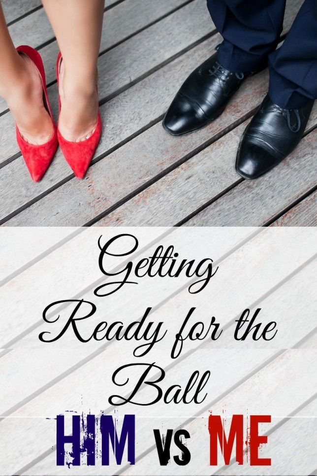 Getting Ready for a Military Ball: Him vs Me