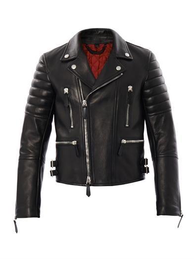 BURBERRY PRORSUM Leather biker jacket (163184)