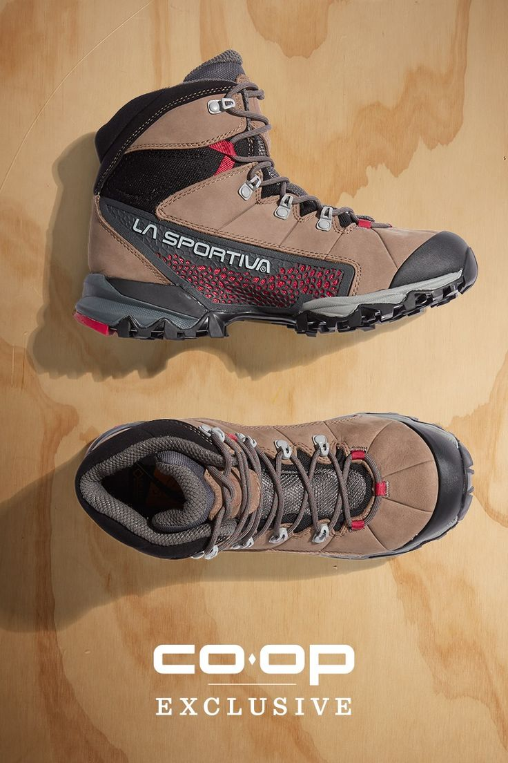 You want to travel light on the trail, but you also want boots that give you solid support. The women's La Sportiva Nucleo High GTX hiking boots deliver on both. They also have Gore-Tex® Surround Technology to make them waterproof and breathable. The durable nubuck leather uppers have Vibram® Nano rubber outsoles for dependable traction and grip. Grab a pair and enjoy dry, comfortable hiking.
