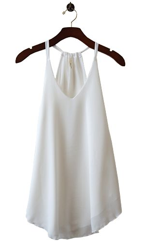 Light as air, double drape top gives a forever flattering and slimming look and the extra length makes it perfect for layering under a cardigan, skinny jeans/leggings and platform heels for a feminine summer look.