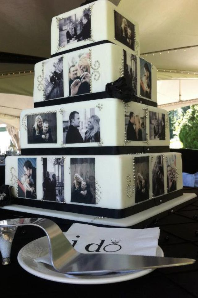 Photo cake.. picture of my kids, wedding, family and special vacations.