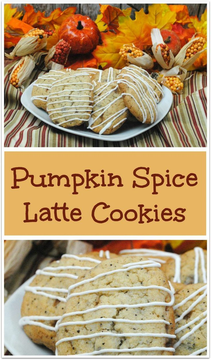 Who doesn't love a Pumpkin Spice Latte? Now you can have that flavor in the perfect little cookie any time you want it! Make an extra batch and stick them in the freezer so you always have a little treat on hand for company or when you need a little snack with that afternoon cup of tea.