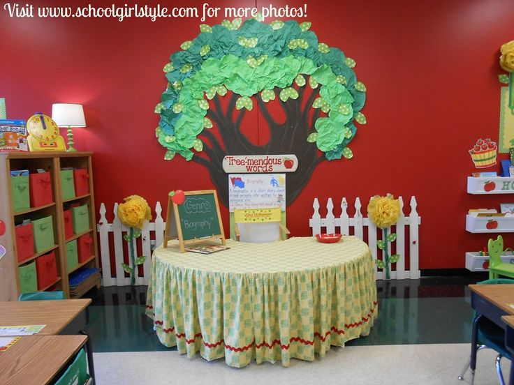 106 best images about sunday school decor ideas on for Apple tree classroom decoration