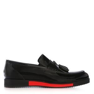UK Polo Club 74605 Erkek Günlük Ayakkabı Siyah Rugan