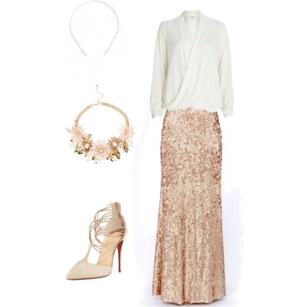 By anitatxu. A fashion look from February 2015 featuring River Island blouses, Christian Louboutin pumps and Benoit Missolin hair accessories. Browse and shop related looks.