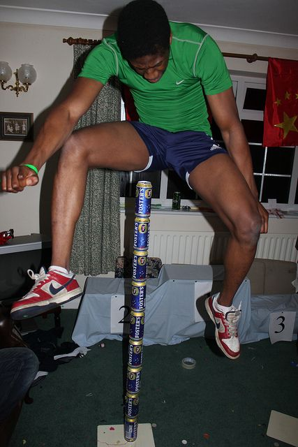 """Recently, a friend held """"The Beer Olympics"""". This was the winning jump in the 'Beer Jump' event.   High Jump by adamjeff, via Flickr"""