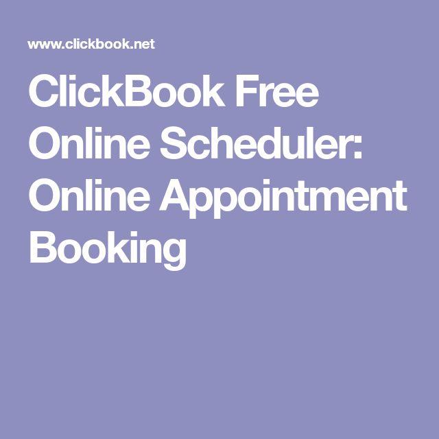 ClickBook Free Online Scheduler: Online Appointment Booking