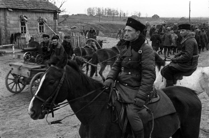 Partisan commander, 1943. Briansk region, Russia. WW2