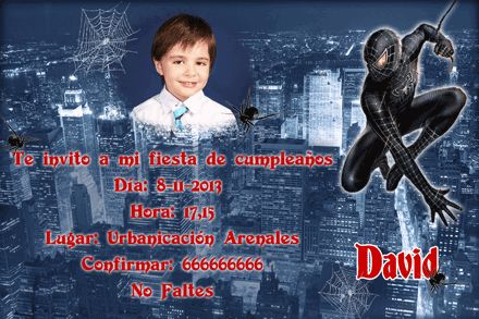 Invitación de Cumpleaños Spiderman grati - Visit to grab an amazing super hero shirt now on sal