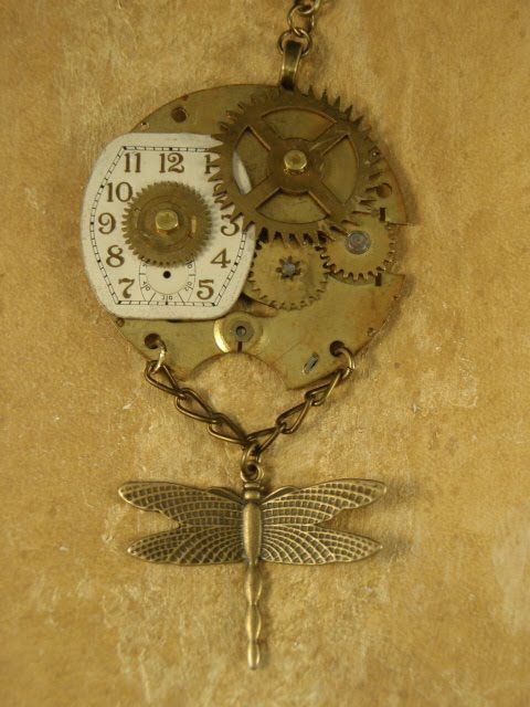Watch parts pendant - HeARTwings: My latest found object jewelry pieces!