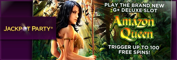Jackpot Party Casino has released the Amazon Queen video slot – read about the WMS-powered slot game below and how to get a 100% welcome bonus up to £200: http://www.casinomanual.co.uk/jackpot-party-casino-release-wms-amazon-queen-slot/