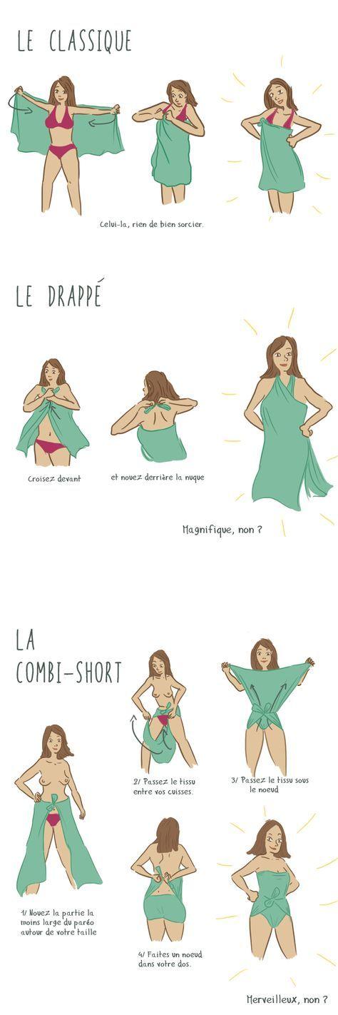 nouer un foulard en voyage. N'oubliez pas qu'il y a plein de foulards à découvrir chez Misscoquines.com!!