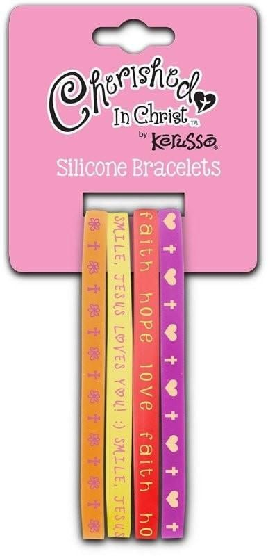Smile Jesus Loves You Silicone Bracelet Set