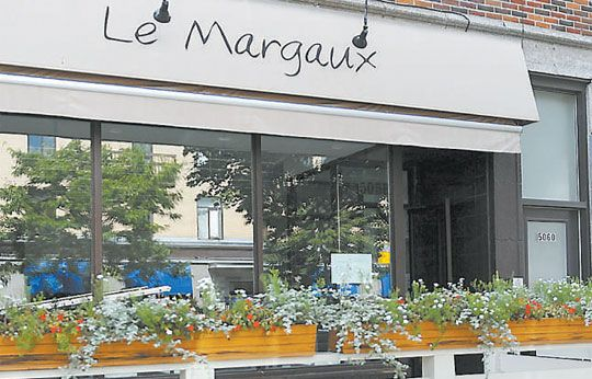 Restaurant Le Margaux on Park Avenue Montreal