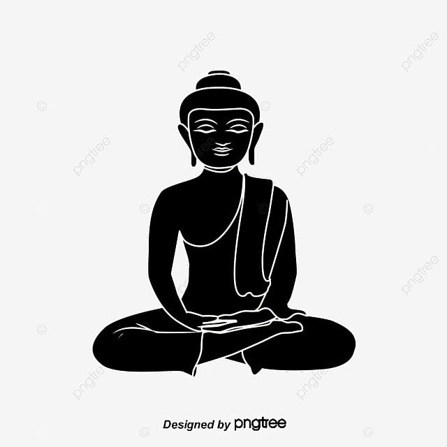 Black Lord Buddha Black Vector Buddha Vector Buddha Png Transparent Clipart Image And Psd File For Free Download Buddha Clipart Images Clip Art