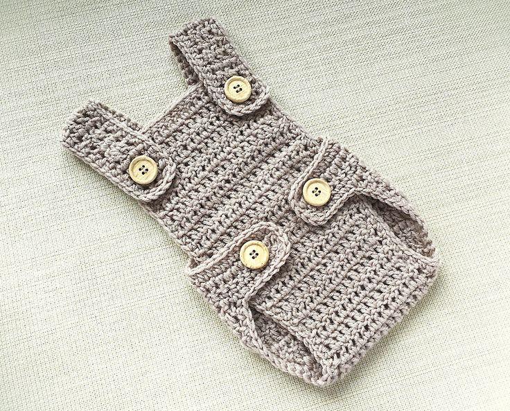 Newborn romper Crochet newborn photo outfit Baby boy photo prop romper Baby crochet romper Newborn boy romper Newborn overalls New born gift by LittleBabyProps on Etsy