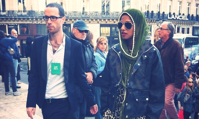 M.I.A at Stella Mc Cartney Show #PFW  http://www.treetslook.com/2012/10/01/fashion-week-paris-live-stella-mccartney-valentin-yudashkin-chloe/