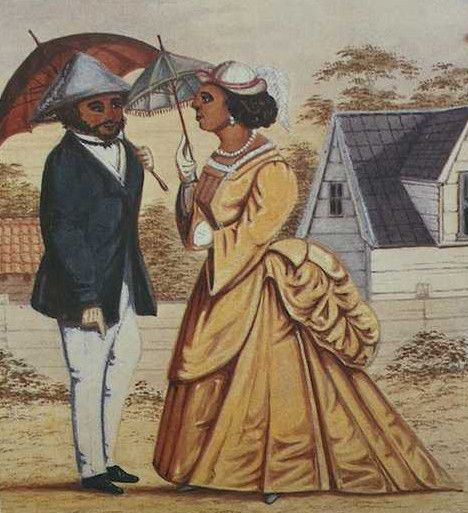 Proefschrift van Ellen Neslo over de vrije gekleurde elite in Paramaribo. klik voor info