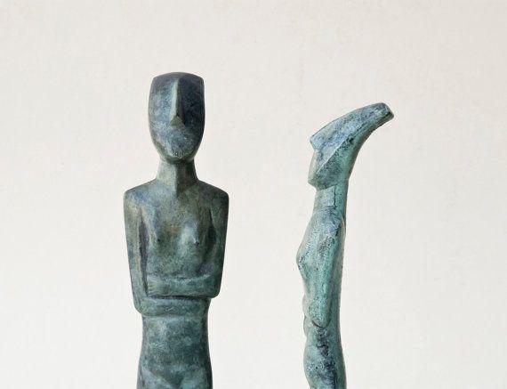 Abstract Bronze Figurine Metal Art Sculpture Greek by GreekMythos