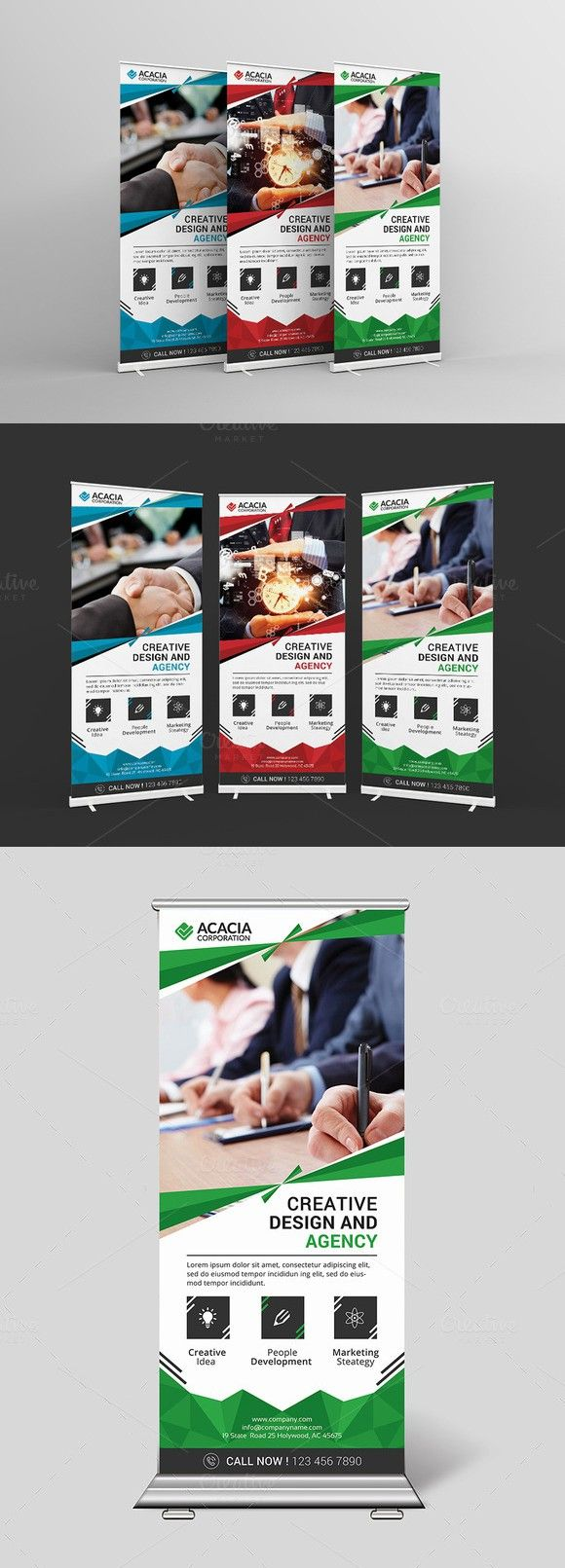 Roll-Up Banner. Stationery Templates. $6.00