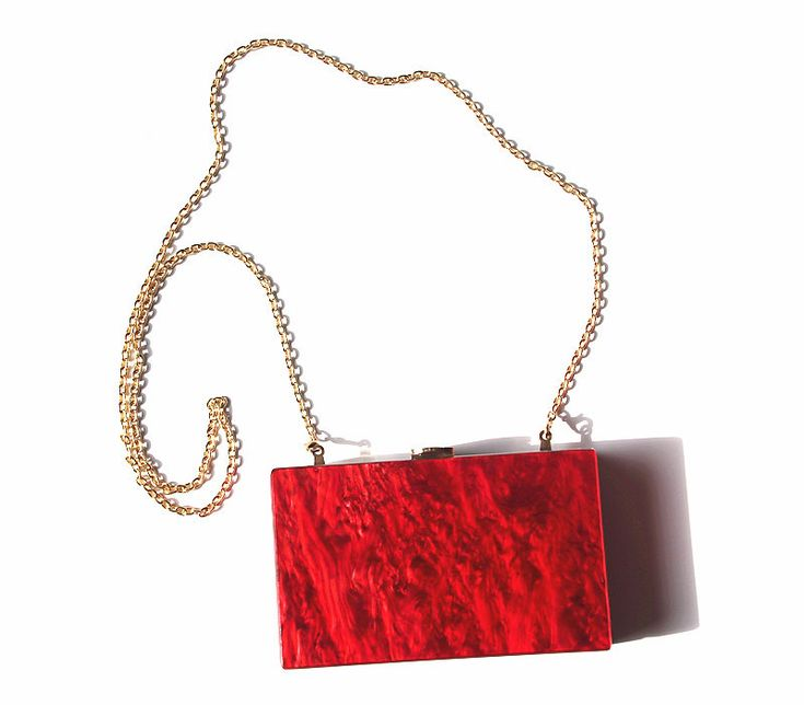 Women Luxury Marble Red Pearl Messenger Evening Bag Small Shoulder Clutch Bag