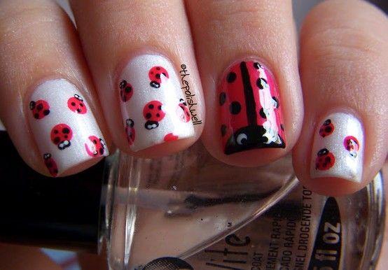 uñas rojas mariquita - Pesquisa Google