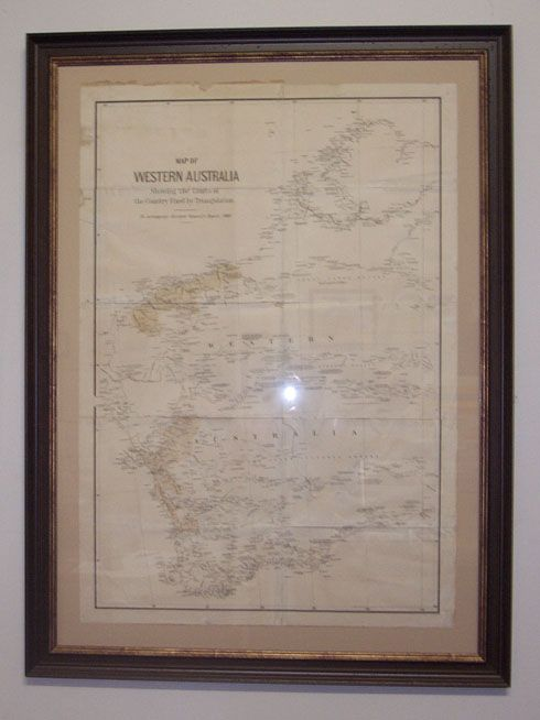 """Map of Western Australia showing the limits of the Country fixed by Triangulation. To accompany Surveyor General's Report, 1880."""