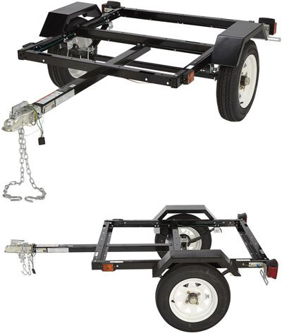 Strength, Quality and Performance In One! The Ironton Utility Trailer Kit is a complete road-ready kit with fenders. Includes 1 7/8in. coupler assembly with safety chains, approved lighting, wiring and connector, tail and turn signals, side running lights, two 4.80–12in. tires and slipper springs.
