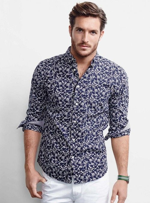 I want this shirt - Justice Joslin Poses for Simons\u0027 Spring 2014 Look Book.  Find this Pin and more on MEN ...